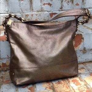 Cole Haan Speckled Bronze Leather hand bag purse